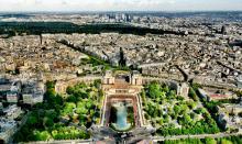 Paryż widok z wieży Eiffla
